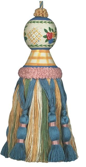 123 Creations C201Y.7.5 inch Carolyn  Yellow Tassel