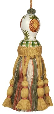 123 Creations C430.8 Inch Pineapple - Hand Painted Tassel