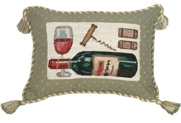 123 Creations C634.9x12 inch Wine Petit Point Pillow