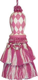 123 Creations CB047R-5.5 Inch Harlequin - Pink Hand Painted Tassel