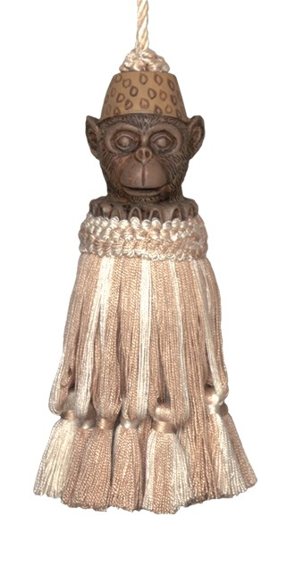 123 Creations CB053-7 Inch Monkey - Natural Tassel