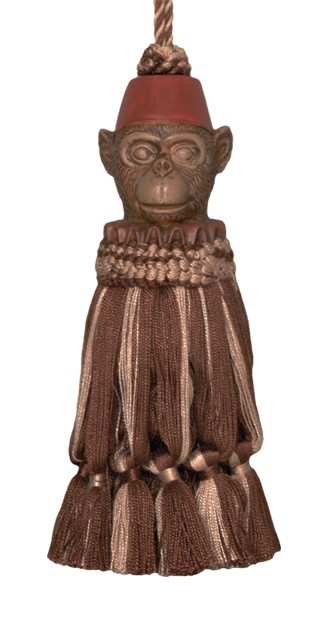 123 Creations CB054-7 Inch Monkey - Brown Tassel