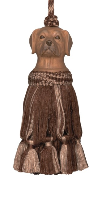 123 Creations CB055D-7 Inch Dog - Brown Tassel