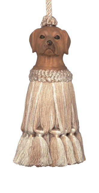123 Creations CB055L-7 7 Inch Dog - Brown Tassel