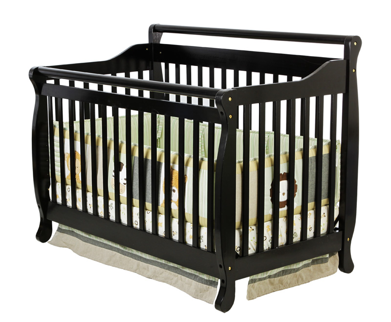 Dream On Me 618K Lifestyle 4-in-1 Convertible Crib in Black