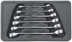 KD Hand Tools 81907 6 Piece Flare Nut Wrench Set SAE EGLE475