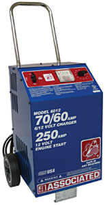 Associated 6012 6 /12 Volt 70/ 60 Amp 500 Boost Battery Charger