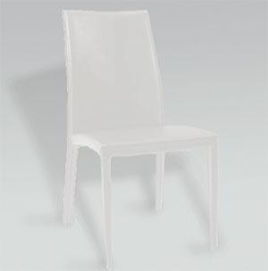 Euro Style 02404 Daisy Leather Chair Set of 2- White