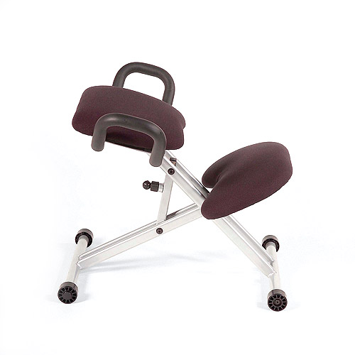 Euro Style 02536 Haley Knee Computer Chair- Black-Aluminum