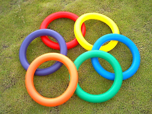 Everrich EVM-0011 Foam Juggling Ring - 10 Inch - Set of 6 Colors EVRR043