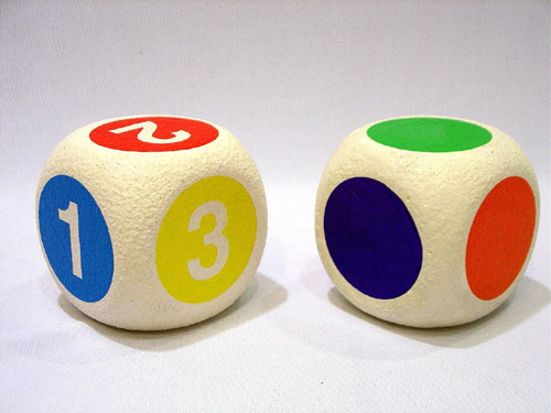Everrich EVM-0014 5 Inch Foam Dice with Numbers