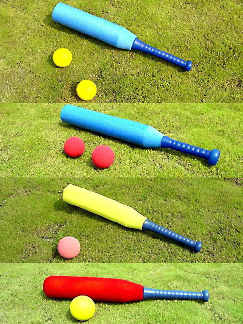 Everrich EVV-0008 PE Foam Small Baseball Set - 2 x 89 Millimeter Foam Balls