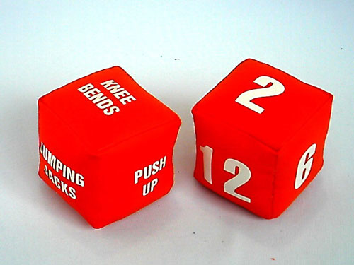 Everrich EVC-0061 4 x 4 x 4 Inch Fitness Dice - Set of 2