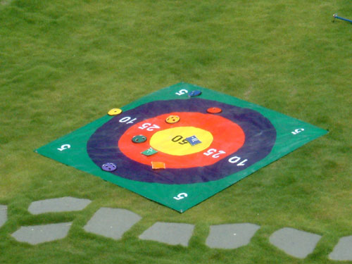 Everrich EVC-0126 Target Toss - 5 x 5 Feet PVC Mat with 12 Beanbags