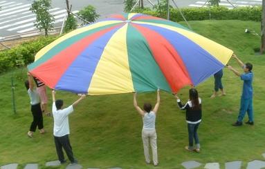 Everrich EVC-0073 4 Color Parachutes - 20 Handles - 24 Feet