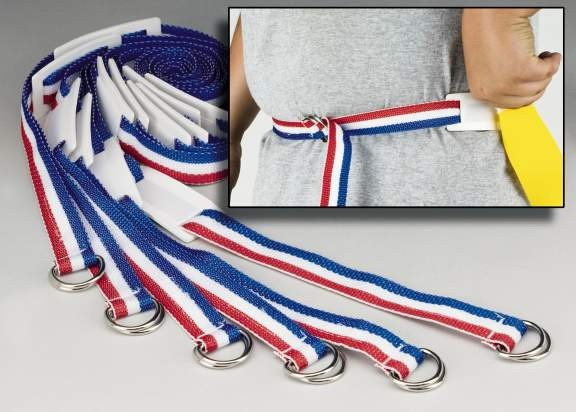Everrich EVC-0032 Flag Belt - Adjustable Rip - 16 x 1 Inch - Set of 6 Belts  12 Flags