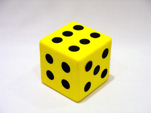Everrich EVM-0015 3.25 Inch Foam Dice with Dots