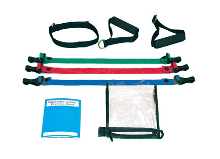 Adjustable Exercise Band Kit - 5 Band - Yellow  Red  Green  Blue  black