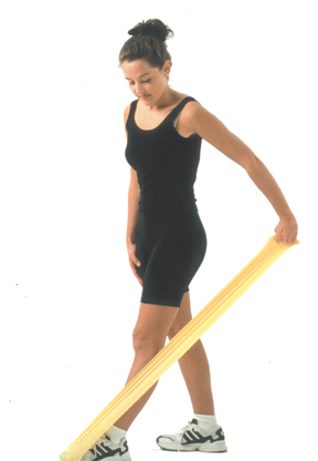 Cando 10-5205 Low Powder Exercise Band - 4ft Ready to Use - Black - X-Heavy