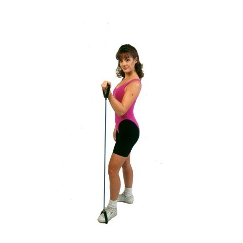 Cando 10-5565 - Tubing With Handles Exerciser - 48 Inches - Black - X-Heavy
