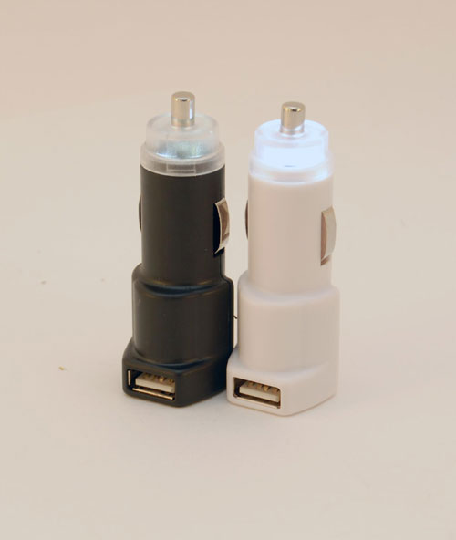 The Flashlighter USB Car Charger- White