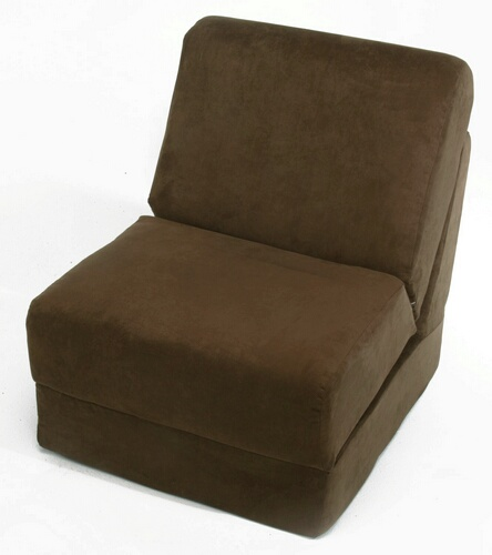 Fun Furnishings 50247 Brown Micro Suede  Teen Chair
