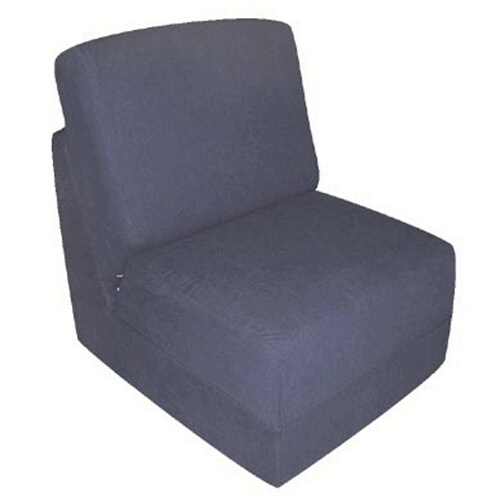 Fun Furnishings 50234 Navy Micro Suede Teen Chair