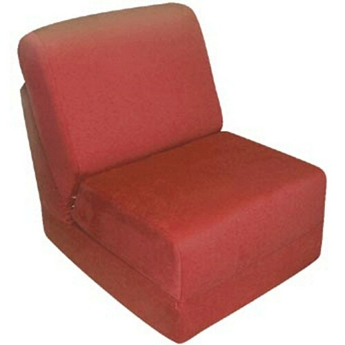Fun Furnishings 50232 Red Micro Suede Teen Chair