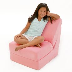 Fun Furnishings 50230 Pink Micro Suede Teen Chair