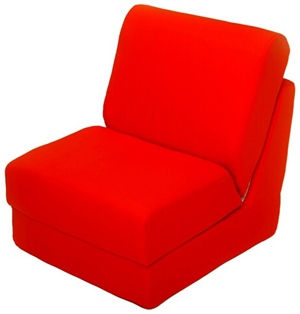 Fun Furnishings 50242 Canvas Teen Chair In Orange