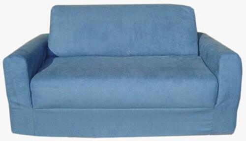 Fun Furnishings 11231 Blue Micro Suede Sofa Sleeper
