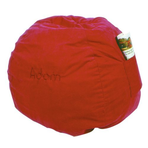 Fun Furnishings 41232 Large Red Micro Suede Beanbag