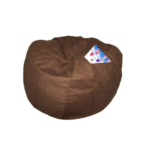 Fun Furnishings 41247 Large Brown Micro Suede Beanbag