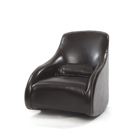 Go Home 10470 Kensington Brown Contemporary Style Leather Chair