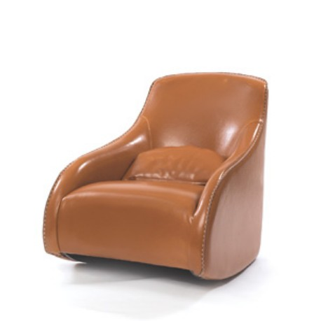 Go Home 10471 Kensington Brown Contemporary Style Baseball Glove Leather Chair