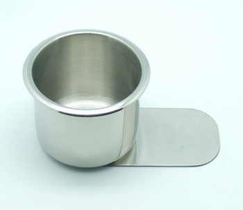 JPCommerce SLIDE-SMSSCUP Slide under Stainless Steel Cup Holder - Small