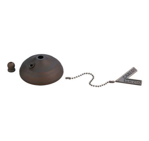 Monte Carlo MC83RB Ceiling Fan Pull Chain Bowl Cap in Roman Bronze