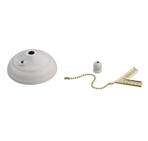 Monte Carlo MC83WH Ceiling Fan Pull Chain Bowl Cap in White