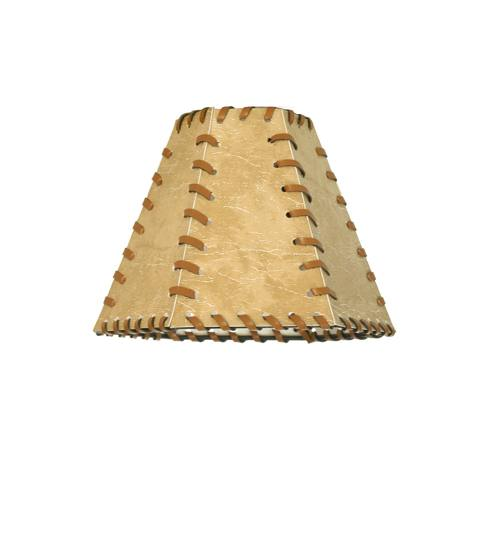 Meyda 81145 Faux Leather And Rawhide Hexagon Shade