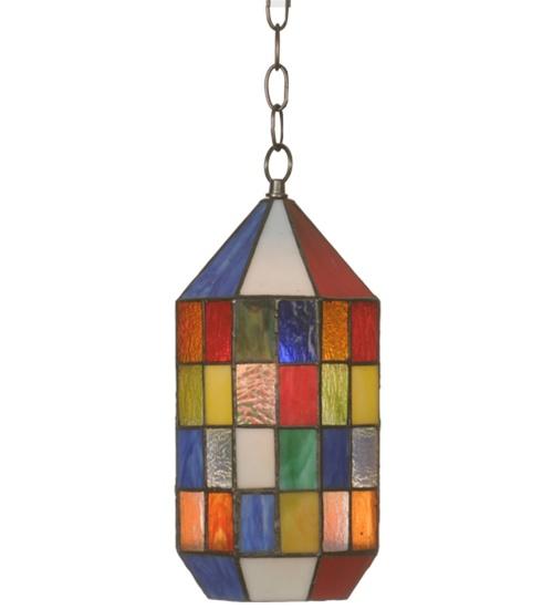 Meyda 81363 Meyer Panel Mini Lantern Pendant Light Fixture