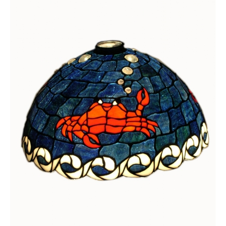 Meyda 21438 14 Inch Domed Crab Glass Shade