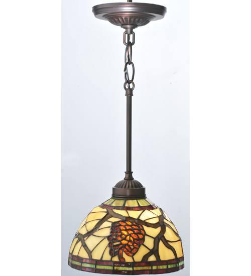 Meyda 106290 Pinecone Dome Mini Pendant Light Fixture
