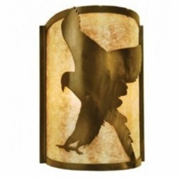 Meyda 68187 Flying Hawk Left Wall Sconce