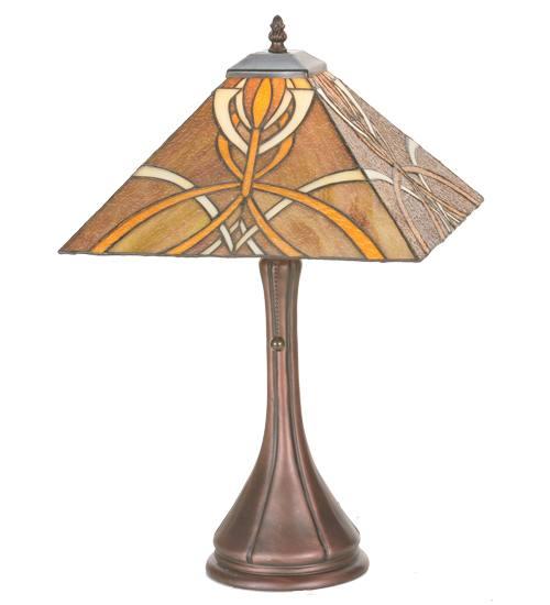 Meyda 99033 21 Mahogany Bronze Glasgow Goblet Table Lamp