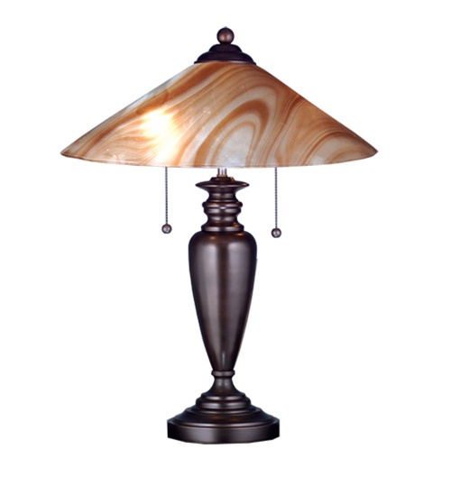 Meyda 73421 Cognac And Craftsman Brown Table Lamp