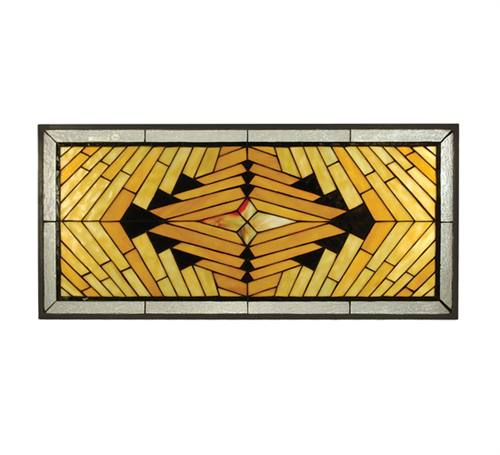 Meyda 68926 14.20 in. W X 30.80 in. H Nuevo Mission Stained Glass Window