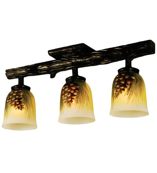 Meyda 34470 Pinecone Painted 3 Light Semi-Flush Fixture