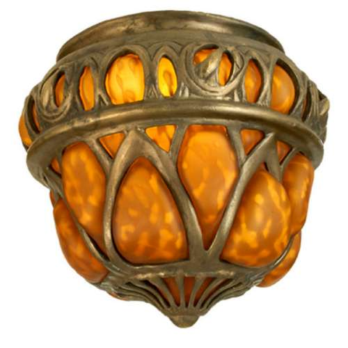 "Meyda 22071 7.5""H x 9""W Blown Glass Gothic Crown Shade"