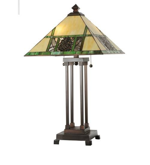 Meyda 103380 Pinecone Mission Table Lamp