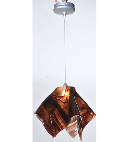 Meyda 106620 Handkerchief Fused Glass Pendant Light Fixture